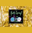 vintage bike poster spring sales vector image