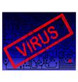 Virus Alert Blue Background vector image vector image