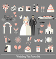 Wedding symbols set vector image vector image