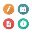 Organizer flat design icons set vector image