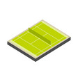 tennis court isometric isolated on white vector image