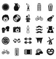 appearance icons set simple style vector image