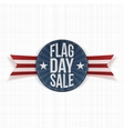Flag Day Sale Label with Text and Shadow vector image