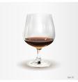 Glass of cognac vector image