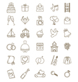 icons wedding set vector image