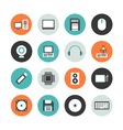 413flat computer equipment iconVS vector image