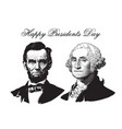 abraham lincoln and george washington vector image vector image