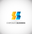 Abstract corporate business logo vector image