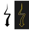 arrow way down from far to near with turns zig vector image vector image