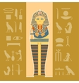 banner sarcophagus vector image vector image