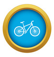 bicycle icon blue isolated vector image