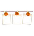Blank Photos with Halloween Pumpkin vector image vector image