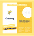 bun company brochure template busienss template vector image