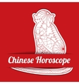 Chinese horoscope background with paper monkey vector image vector image