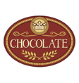 Chocolate label vector image vector image