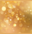 christmas warm gold background with bokeh light vector image