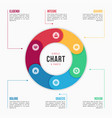 circle chart infographic template with 6 parts vector image vector image
