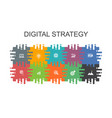 digital strategy cartoon template with flat vector image vector image