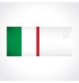 Envelope with Italian flag card vector image vector image