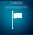 flag of european union icon on blue background vector image vector image