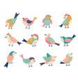 flying birds decorative folk stylized vector image vector image