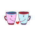 funny cups icon cute printed art sticker vector image