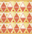 golden orange white triangles seamless vector image