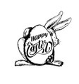 hand lettering happy easter in drawn vector image