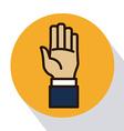 hands signals vector image vector image