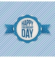 Happy Friendship Day greeting Emblem vector image