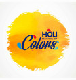 happy holi festival the festival of colors white vector image
