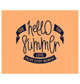 hello summer sun fun love vector image vector image