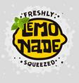 home made lemonade typographic design vector image vector image
