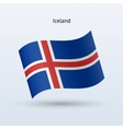 iceland flag waving form vector image