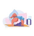 international yoga day21 june vector image