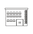 Isolated building with windows design vector image vector image