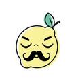 kawaii nice sleeping lemon fruit vector image vector image