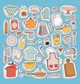 kitchen set icon vector image vector image