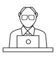 Male consultant icon outline style vector image