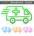 medical van symbol icon vector image