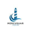 mercusuar logo design template vector image vector image