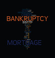 mortgage after bankruptcy these steps could help vector image vector image