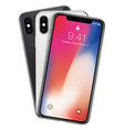 new phone x front frame and white black back vector image vector image