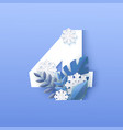number four winter natural vector image