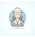 Nun sister cloitress icon Avatar and person vector image vector image