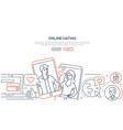 online dating app - modern line design style web vector image vector image