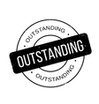 Outstanding rubber stamp vector image vector image