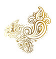 paisley background hand drawn ornament vector image vector image