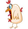 panicked chicken vector image vector image