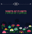 power of flower banner vector image vector image